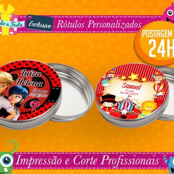 Postagem em 24H - Rótulos Adesivos para Latinha - 5 CM