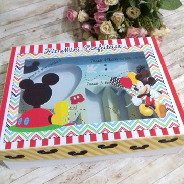 #5361- Arquivo digital Silhouette - Kit confeiteiro Mickey