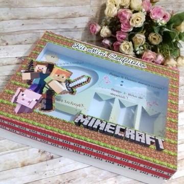 #5362-Arquivo digital Silhouette - Kit confeiteiro Minecraft