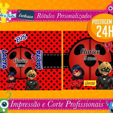 Lady Bug e Cat Noir - Postagem em 24H - Rótulos Adesivos