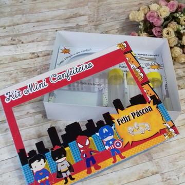 #5365- Arquivo digital Silhouette - Kit confeiteiro Heróis