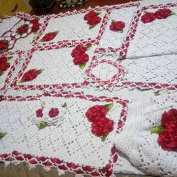 Conjunto de cozinha em crochê