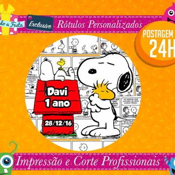 Snoopy Quadrinhos - Postagem em 24H - Rótulos Adesivos