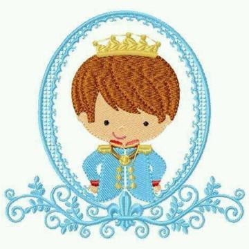 Matriz de bordado príncipe com moldura