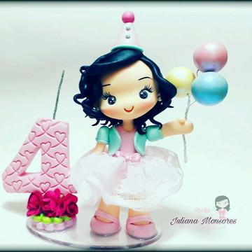 Topo de bolo Circo rosa!