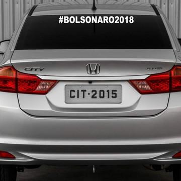 Adesivo Bolsonaro #bolsonaro2018 55x5