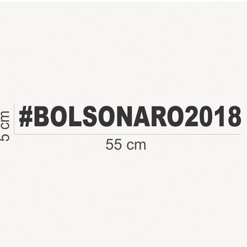 Adesivos Bolsonaro #bolsonaro2018 55x5