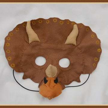 Mascara dinossauro Triceratops