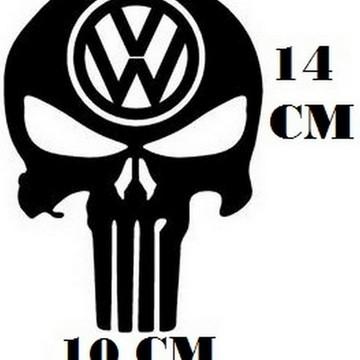 Adesivo Decalque Caveira Volkswagen Frete Grátis