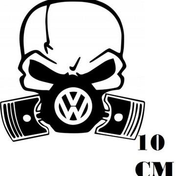 Adesivo Decalque Caveira Mascara Volkswagen Frete Grátis