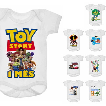 Kit Body Mesversário 12 meses - Disney Pixar