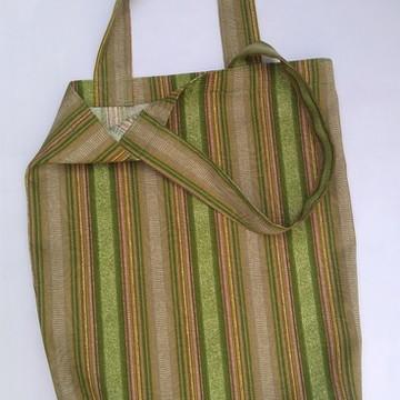Bolsa-sacola de tecido de tapeçaria