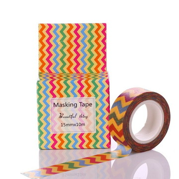 Washi tape zig zag chevron colorida