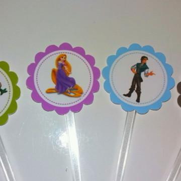 Topper para doces Rapunzel -Enrolados