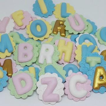 Apliques de Letras em Biscuit