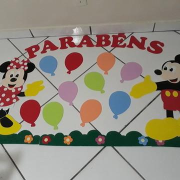 Painel aniversariantes Minnie e Mickey