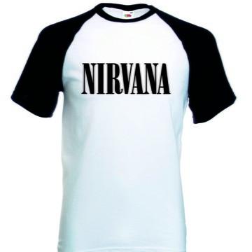 Camiseta Raglan Manga Curta Nirvana