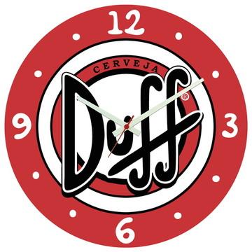 Relógio de Parede   Cerveja Duff Simpsons Homer