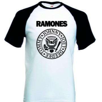 Camiseta Raglan Manga Curta Ramones Banda Rock