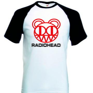 Camiseta Raglan Manga Curta Radiohead Banda Rock
