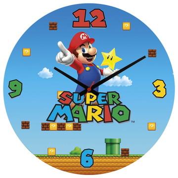 Relógio de Parede   Super Mario Bros Snes Luigi