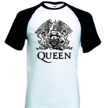 Camiseta Raglan Manga Curta Queen Banda Rock