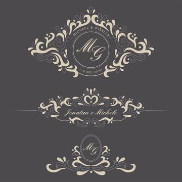 Monograma/Emblema Personalizado - Casamento ou Noivado (002)