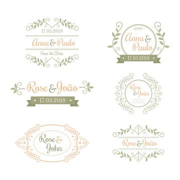 Monograma/Emblema Personalizado - Casamento ou Noivado (003)