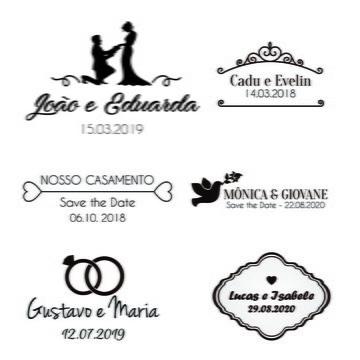 Monograma/Emblema Personalizado - Casamento ou Noivado (001)