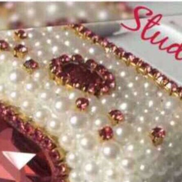 2 Carimbos luxo Personalizados + 3 canetas de cristais