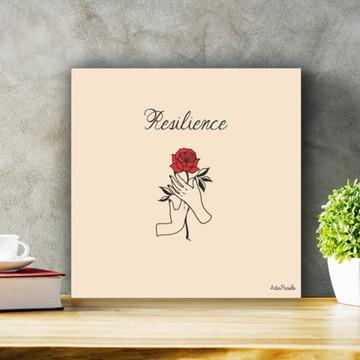 Placa Decorativa Resilience Minimalista Tamanho P