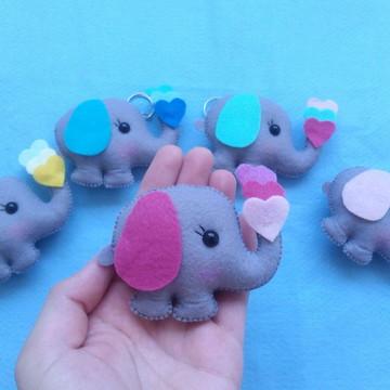 Lembrancinha elefante de feltro