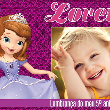 LEMBRANCINHA IMÃ DE GELADEIRA PRINCESA SOFIA
