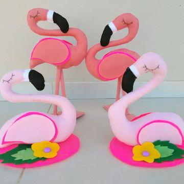 Flamingos em Feltro - 4 personagens