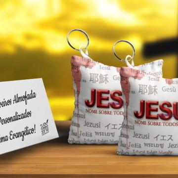 Chaveiro Almofada Personalizado Tema Evangélico