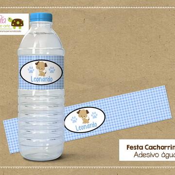 Adesivo água - Festa Cachorrinho