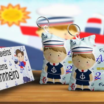 Chaveiro Almofada Personalizado Tema Menino Marinheiro