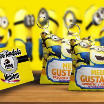 Chaveiro Almofada Personalizado Tema Minions