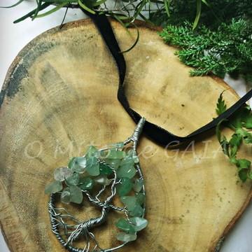 Pingente Árvore da Vida - Quartzo Verde