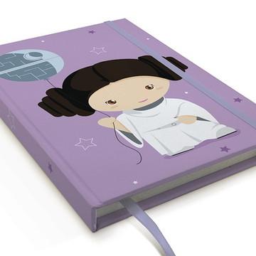 Caderno Star Wars Princesa Leia A5 Personalizado