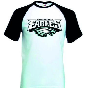 Camiseta Raglan Manga Curta Philadelphia Eagles