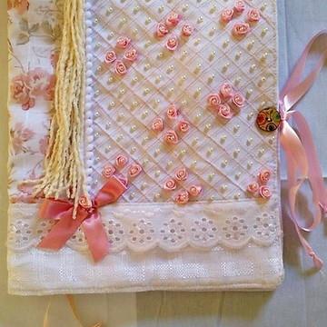Capa de caderno em tecido