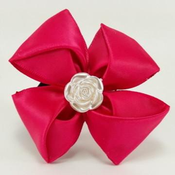 Xuxa Pink em Cetim Com Pérola (Elastico para Cabelo)