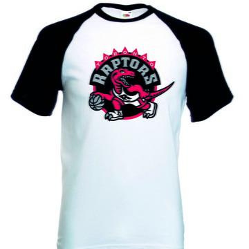 Camiseta Raglan Manga Curta Toronto Raptors