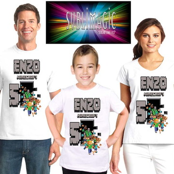Kit 3 Camisetas Minecraft