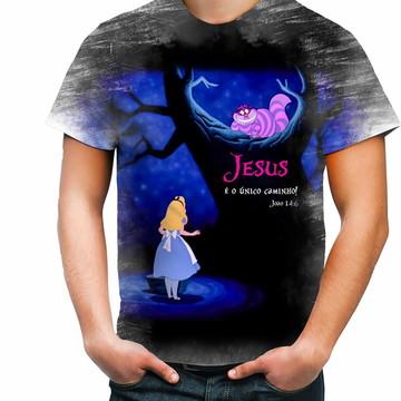 Camisa Camiseta Personalizada Jesus É O Único Caminho