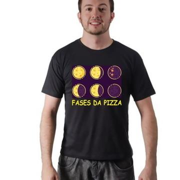 Camiseta Pizza De Fases Estampada Masculina