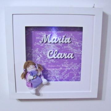 QUADRO PARA PORTA DE MATERNIDADE - MARIA CLARA