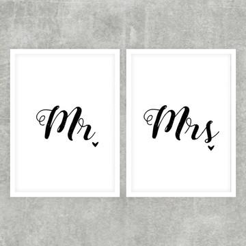 Kit Quadro Mr. & Mrs. - 21x30cm