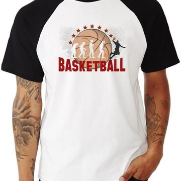 Camiseta Masculina Evolução Basquete
